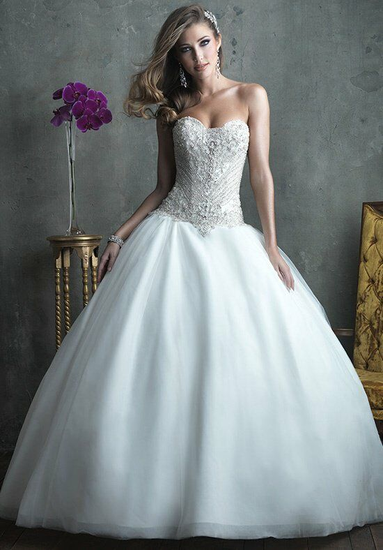 Allure couture c307 wedding dress the knot for How do you preserve a wedding dress