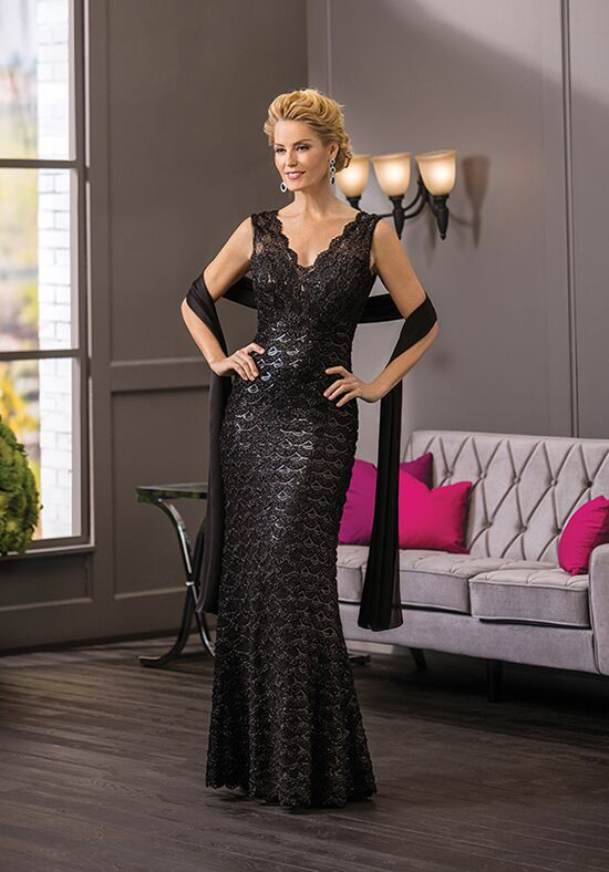 Jade Couture K188061 Black Mother Of The Bride Dress