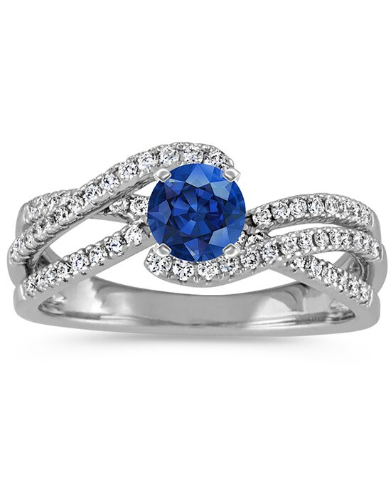 Shane Co Round Diamond Vintage Engagement Ring With