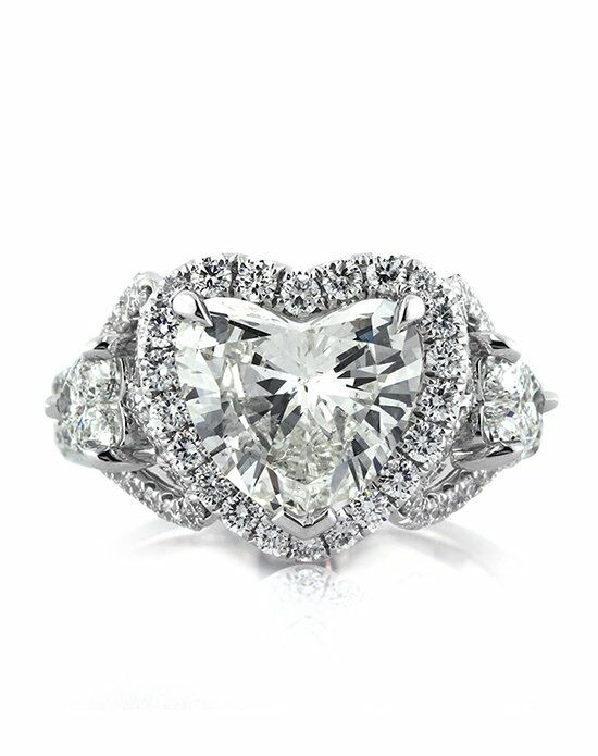 Mark Broumand Unique Heart Cut Engagement Ring