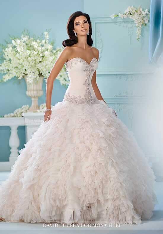 David Tutera for Mon Cheri 216260 Meena Ball Gown Wedding Dress