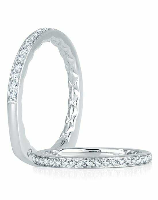 A.JAFFE MRS738Q White Gold Wedding Ring