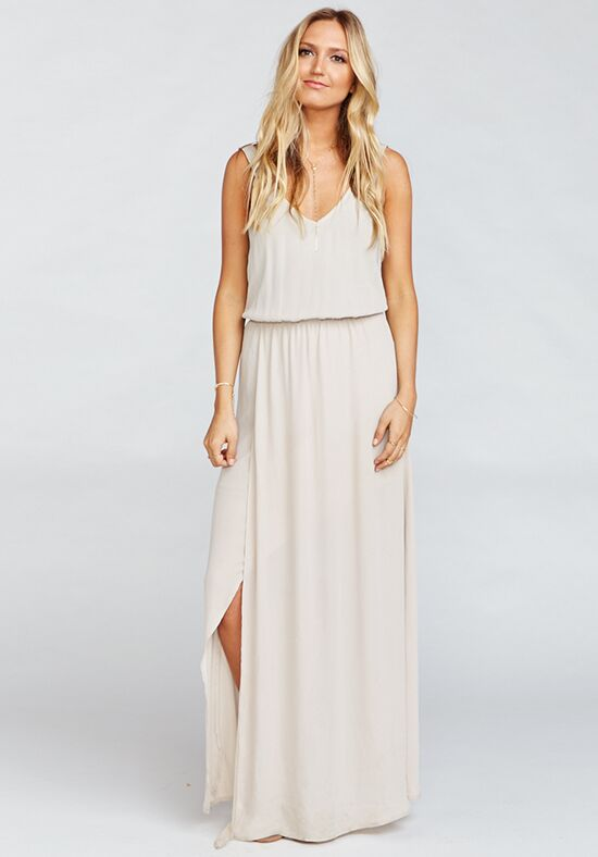 Show Me Your Mumu Kendall Maxi Dress - Show Me the Ring Crisp V-Neck Bridesmaid Dress