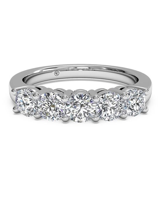 Ritani Women's Five-Stone Diamond Wedding Band - in 14kt White Gold (0.75 CTW) White Gold Wedding Ring