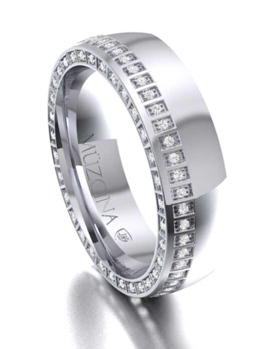 MÜZCINA by JJBückar BX31-H-100-D-OC-EA-PLT-PX-65 Platinum Wedding Ring