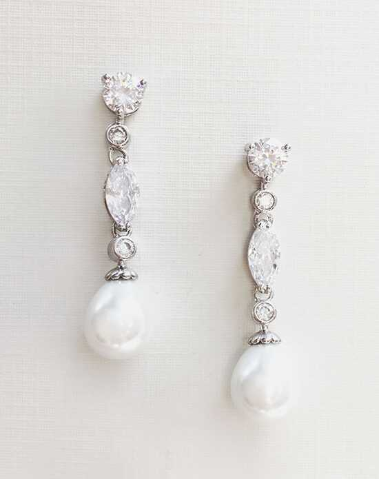 USABride Bridget Pearl & CZ Earrings JE-4070 Wedding Earring photo
