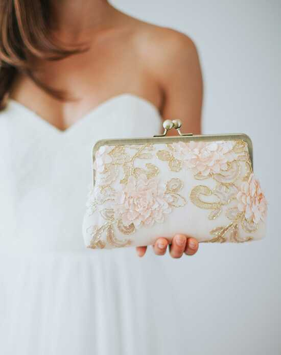 Davie & Chiyo | Clutch Collection Adelaide Clutch Ivory, Pink Clutches + Handbag