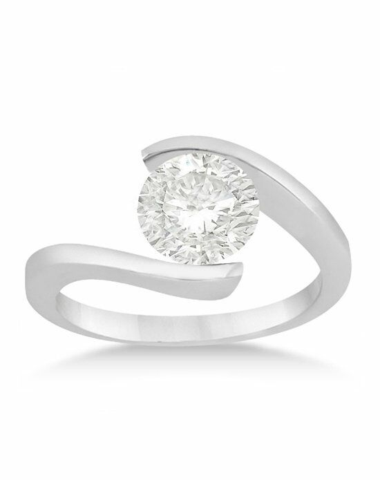 Allurez - Customized Rings U475 Palladium, Platinum, White Gold Wedding Ring