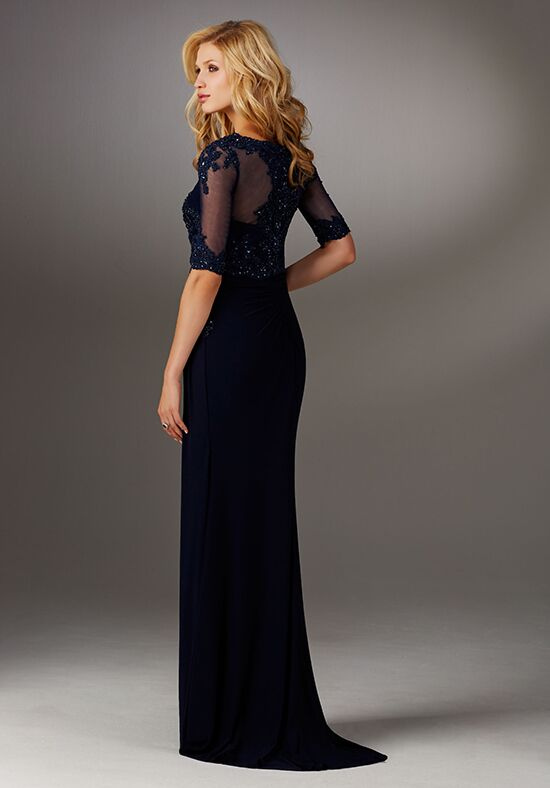 MGNY 71510 Blue Mother Of The Bride Dress