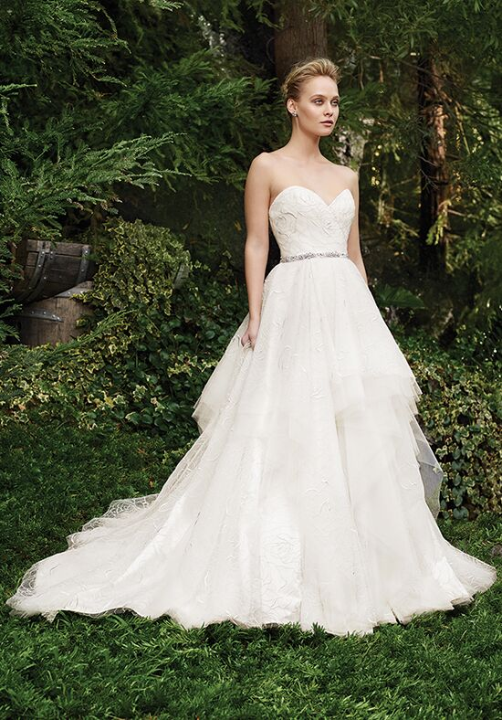 Casablanca Bridal 2264 Rosette Ball Gown Wedding Dress