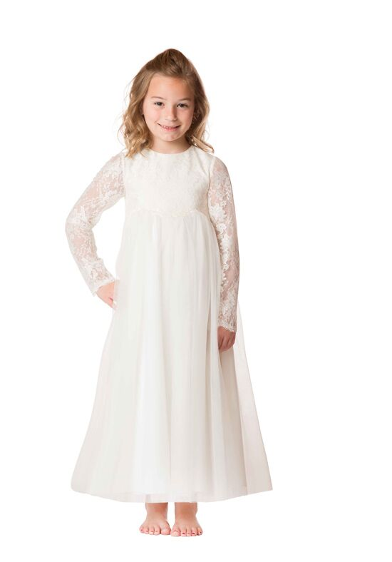 Bari Jay Flower Girls F6617 Ivory Flower Girl Dress