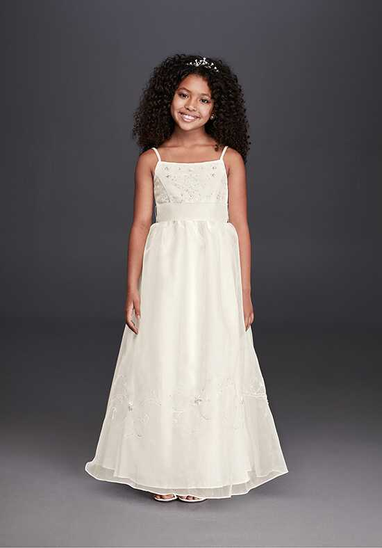 David's Bridal Flower Girl FG258 Ivory Flower Girl Dress