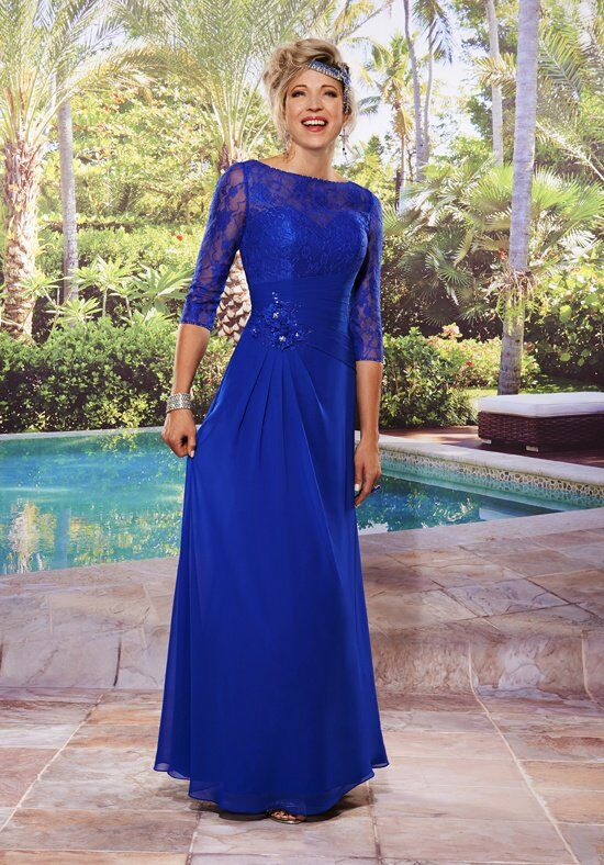 Beautiful Mothers by Mary's M2495 Blue Mother Of The Bride Dress