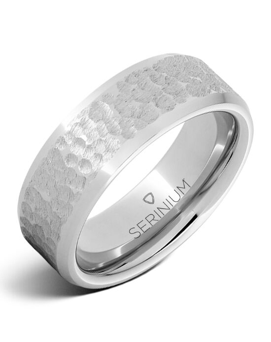 Serinium® Collection Lunare — Moon Pattern Serinium® Ring-RMSA002115 Serinium® Wedding Ring