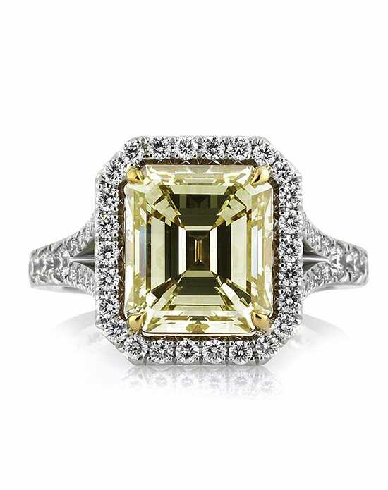 Mark Broumand 5.05ct Fancy Light Brown Green Yellow Emerald Cut Diamond Engagement Ring Engagement Ring photo