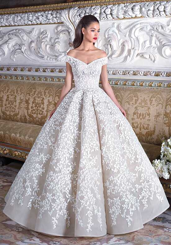 Platinum by Demetrios DP375 - Marguerite Ball Gown Wedding Dress