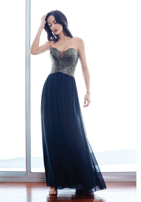 Colour by Kenneth Winston 5256L V-Neck Bridesmaid Dress