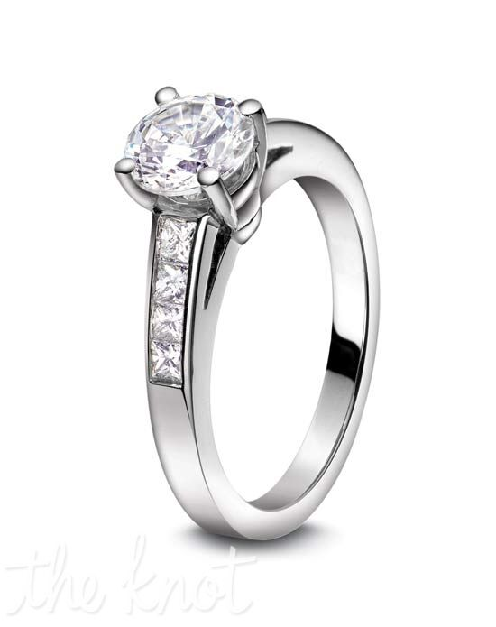 Jeff Cooper R-3102 Platinum, White Gold Wedding Ring