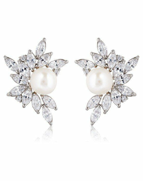 Thomas Laine Liz Garland Pearl Cluster Earrings Wedding Earring photo