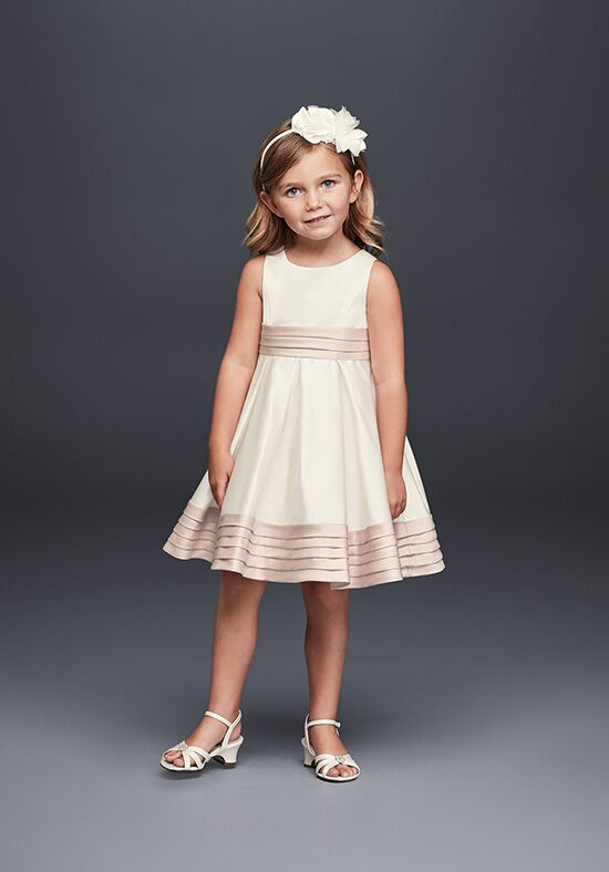David's Bridal Flower Girl WG1372 Ivory Flower Girl Dress
