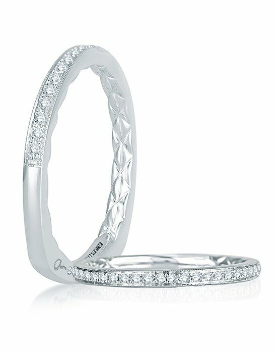 A.JAFFE MRS743Q White Gold Wedding Ring