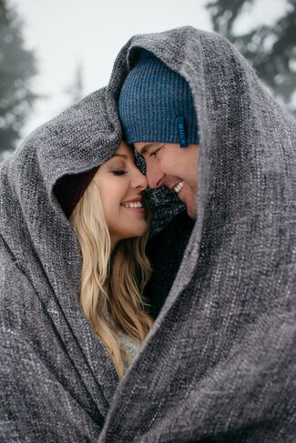 Hot husband and wife couple: Greg Street and Chelan Simmons enjoying the winter