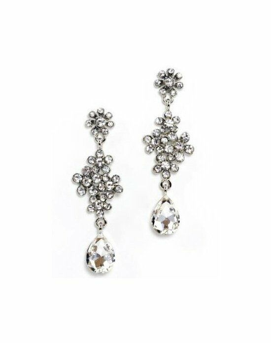 Anna Bellagio Andrea Swarovski Clear Crystal Flower Earring Wedding Earring photo
