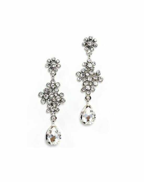 Anna Bellagio Andrea Swarovski Clear Crystal Flower Earring Wedding Earrings photo