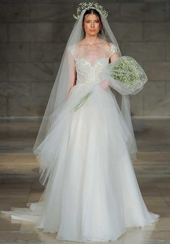 Reem Acra Cherish A-Line Wedding Dress