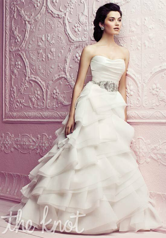 Paloma Blanca 4265 A-Line Wedding Dress