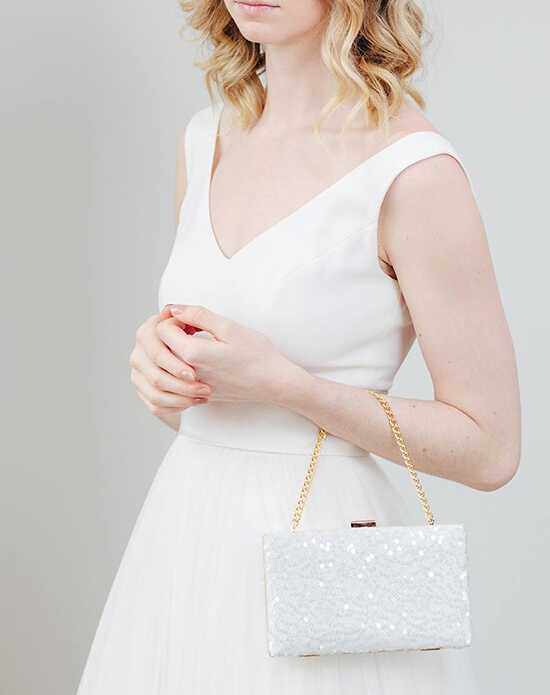 Davie & Chiyo | Clutch Collection Halle Box Clutch Gold, Ivory Clutches + Handbag