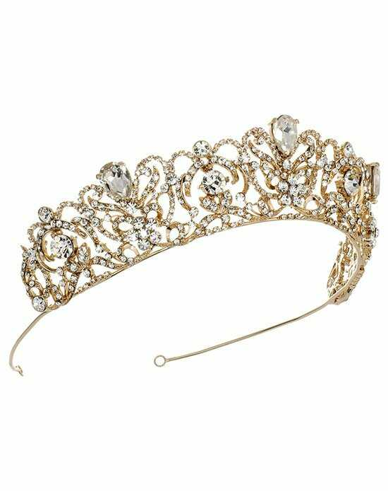 USABride Royal Princess Crown TI-3175-G Gold Tiara