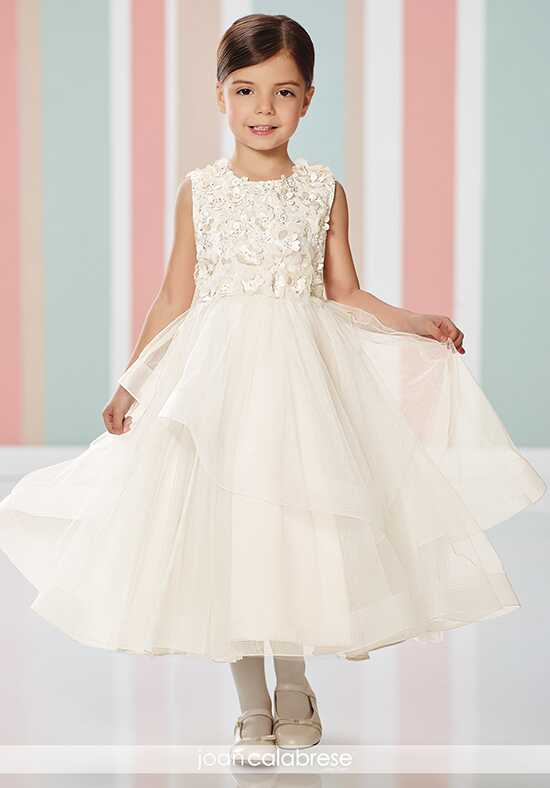 Joan Calabrese by Mon Cheri 216303 Ivory Flower Girl Dress