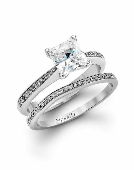 simon g jewelry - Wedding Ring Princess Cut