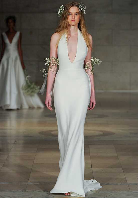 Reem Acra Flirtatious Sheath Wedding Dress