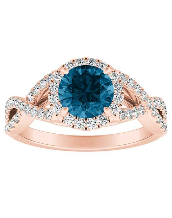 DiamondWish.com Unique Round Cut Engagement Ring