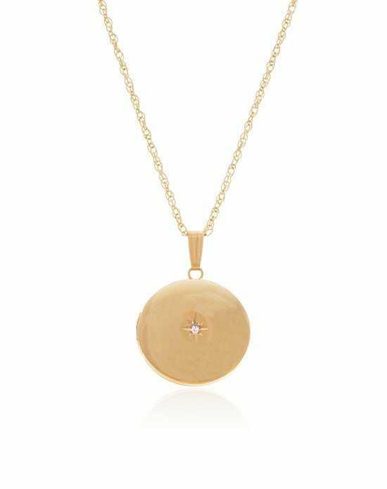 Wedding jewelry thomas laine gold round diamond locket aloadofball Choice Image
