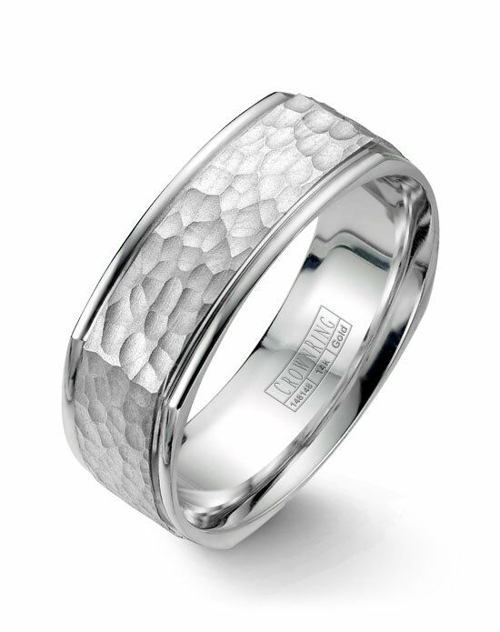 CrownRing WB-7908-M10 White Gold Wedding Ring