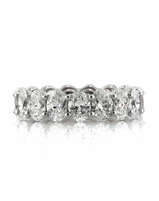 Mark Broumand 5.40ct Oval Cut Diamond Eternity Band White Gold Wedding Ring