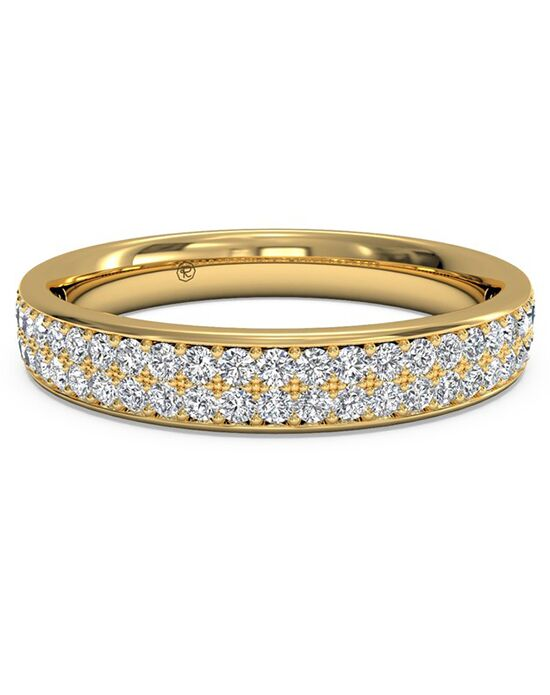 Ritani Women's Double Micropave Diamond Wedding Band - in 18kt Yellow Gold (0.25 CTW) Gold Wedding Ring
