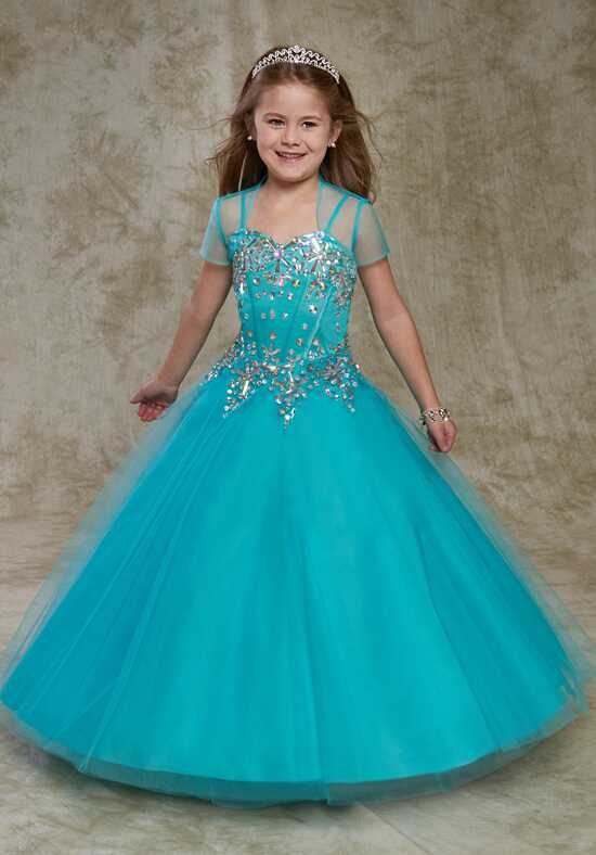 Cupids by Mary's FP171 Blue Flower Girl Dress
