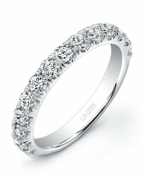 Uneek Fine Jewelry UWB03 White Gold Wedding Ring