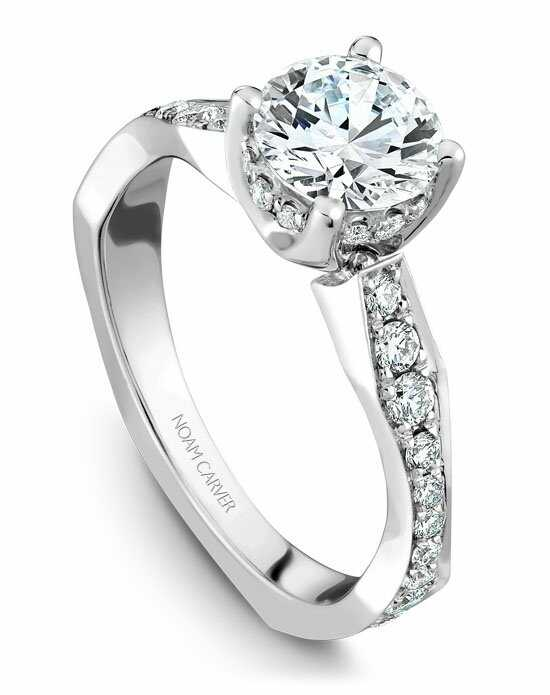 Noam Carver Elegant Round Cut Engagement Ring