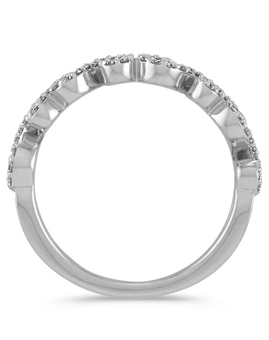 Shane Co. Round Diamond Swirl Wedding Band in 14k White Gold White Gold Wedding Ring