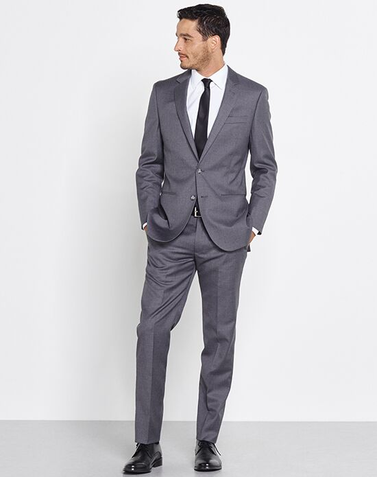 The Black Tux Grey Suit Wedding Tuxedo - The Knot