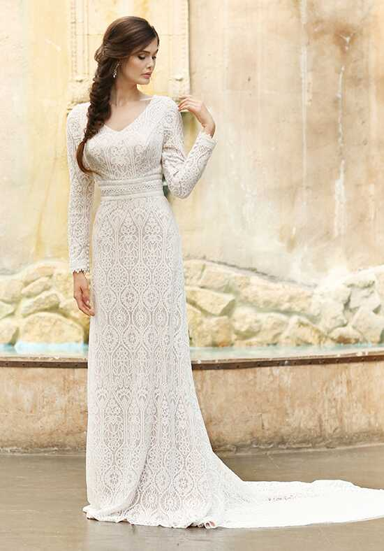 Modest by Mon Cheri TR11831 Sheath Wedding Dress