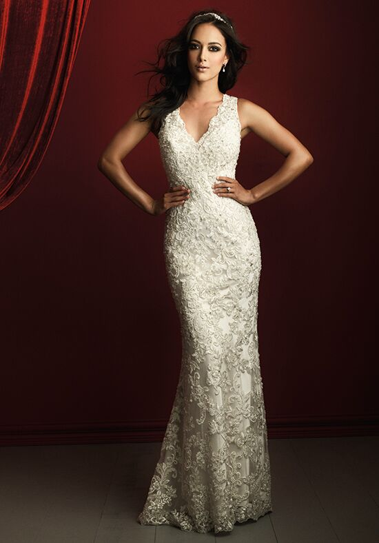 Allure Couture C366 Sheath Wedding Dress