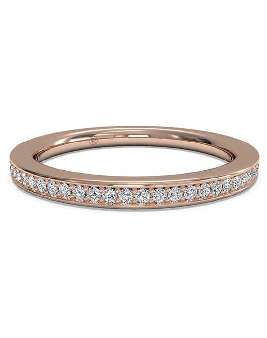 Ritani Women's Micropave Diamond Eternity Wedding Ring - in 18kt Rose Gold - (0.24 CTW) Rose Gold Wedding Ring