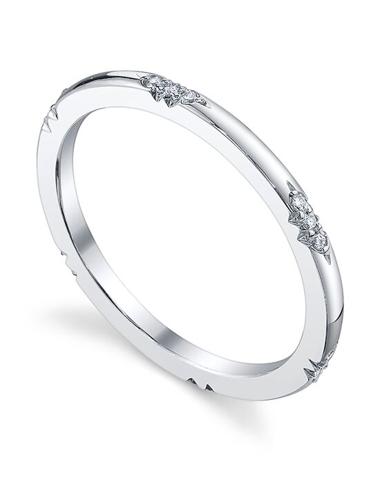 Michael B Royal Lace Band Platinum Wedding Ring