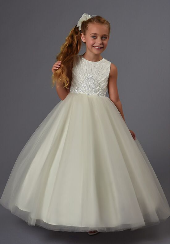 Cupids by Mary's F562 Ivory Flower Girl Dress
